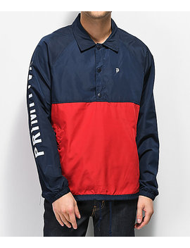Primitive Navy & Red Anorak Coaches Jacket by Primitive