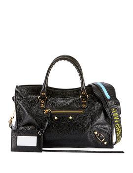 Classic City Aj Small Leather Satchel Bag by Balenciaga