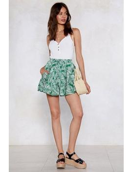 Don't Leaf Me This Way Palm Shorts by Nasty Gal