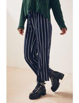 La Hearts Tie Waist Striped Pants by Pacsun