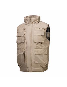 Hokivin Mens Lightweight Zipper Up Oversize Vest Coat Jacket With Pockets by Hokivin