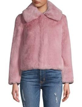 Anya Faux Fur Jacket by Topshop