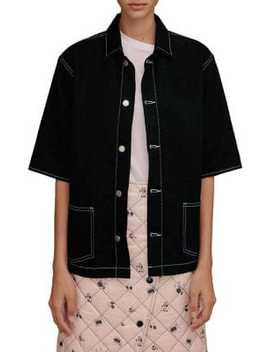 Denim Bowling Shirt by Topshop