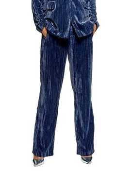 Crinkle Velvet Pants by Topshop