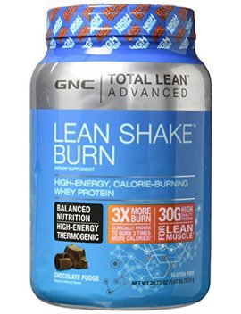 Gnc Advanced Lean Shake Burn Protein Powder, Chocolate, 1.64 Pound by Gnc