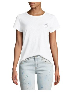Double Heart Embroidered Crewneck Tee by Rag & Bone