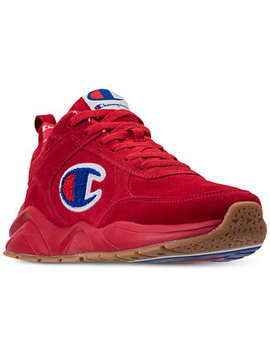 Men's 93 Eighteen Suede Chenille Athletic Training Sneakers From Finish Line by Champion