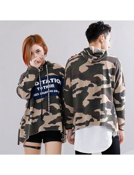 Streetwear Oversized Camouflage Sweatshirt Army Hip Hop Streetwear Brand Clothing Cotton Hip Hop Camo Military Pullover Hoodie by Hidol