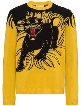 Gg Panther Sweater by Gucci