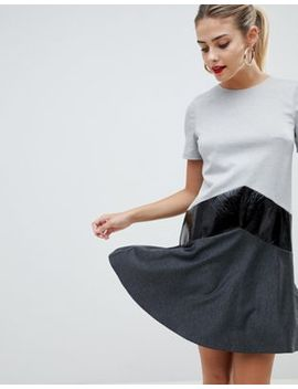 Платье мини с асимметричным краем Asos Design by Asos