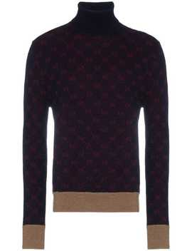 Gg Logo Turtleneck Knit Sweater by Gucci