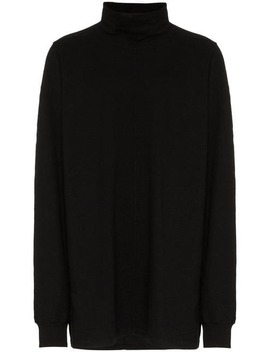 Surf Cotton Turtleneck T Shirt by Rick Owens Drkshdw