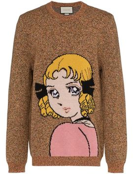 Manga Girl Intarsia Wool Jumper by Gucci
