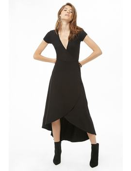 Faux Wrap High Low Dress by Forever 21