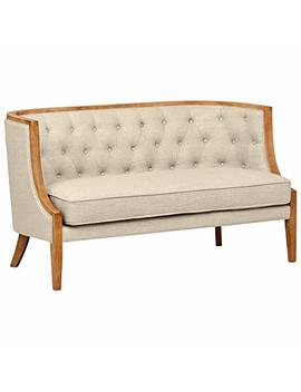 "Stone & Beam Laurel Rounded Loveseat, 57""W, Sand by Stone & Beam"