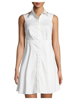 Isobel Sleeveless Fit And Flare Shirtdress by Zac Posen