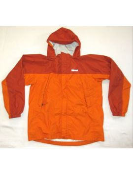 Marmot Rain Jacket Coat Orange Youth Kid's Xl Excellent by Marmot
