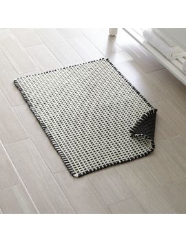 Koya Waffle Fringe Bath Mat by Crate&Barrel