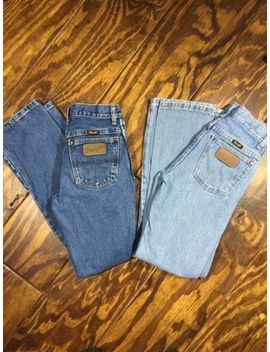 Boys Wrangler Jeans Lot Of 2 14 Slim Cowboy Cut Original Fit  Adjustable Waist by Wrangler