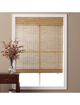 Arlo Blinds Corded Tuscan Bamboo Roman Shade With 74 Inch Height by Arlo Blinds