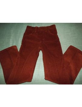 Boys Wrangler Rust Brown Corduroy Pants Sz 10 Reg by Wrangler