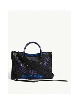 Ville Leather Shoulder Bag by Balenciaga