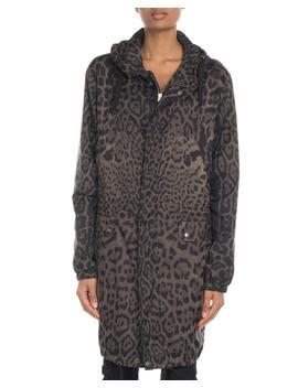 Animal Print Hooded Rain Coat by Saint Laurent
