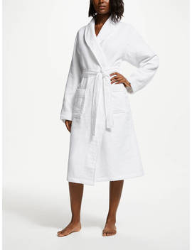 Croft Collection Honey Comb Waffle Unisex Bath Robe, White by Croft Collection