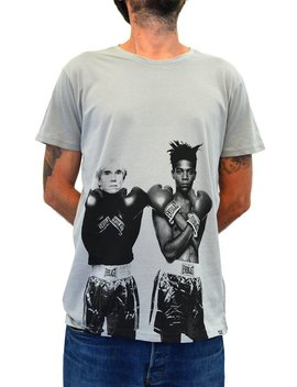 Faces | Warhol Vs Basquiat | Men's Organic T Shirt Hand Printed In Italy by Etsy