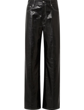 Leather Wide Leg Pants by Helmut Lang