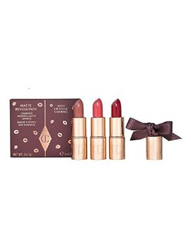 Charlotte Tilbury Matte Revolution Mini Lipstick Charms Very Victoria ~ Amazing Grace ~ Red Carpet Red by Charlotte Tilbury