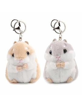 "Women Hamster Plush Keychain,4.7""Cute Stuffed Animal Handbag Pendant For Phone … by Aqueous"