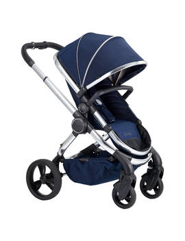 I Candy Peach Chrome Pushchair And Carrycot, Indigo by I Candy