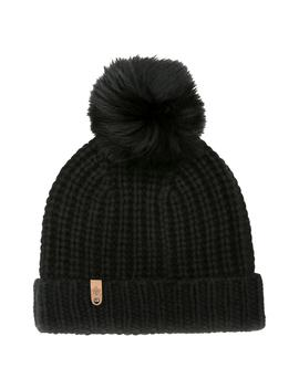 Doris Cashmere Beanie With Removable Genuine Fox Fur Pom by Mackage
