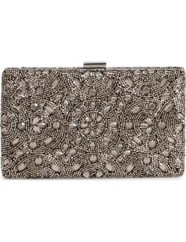 Floral Medallion Beaded Minaudière by Nordstrom