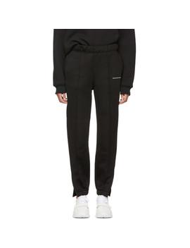 Black Heavy Sleek Pull On Lounge Pants by Alexanderwang.T