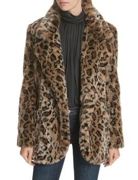 Leopard Print Faux Fur Coat by Smythe