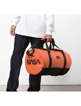 Vans X Space Voyager Nasa Grind Skate Duffel Bag Orange Black Sk8 Duffle New by Vans