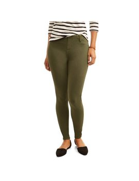 Women's Full Length Soft Knit Color Jegging by Time And Tru