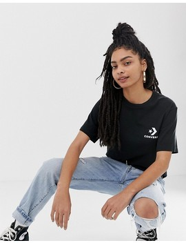 Converse Oversized Star Chevron T Shirt In Black by Converse