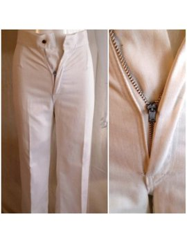 Vintage 1970s Pants White Denim Flare Leg Jeans Extra Small 24 Waist by Etsy