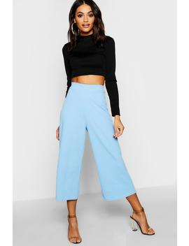Crepe Wide Leg Culottes by Boohoo