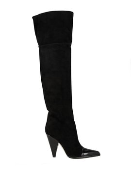 Carla Leather Cap Toe Suede Boots by Sergio Rossi