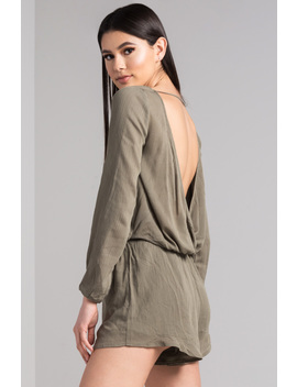 Don't Have To Be Lonely Open Back Romper by Akira