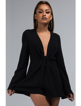 Dont Care About It V Cut Romper by Akira
