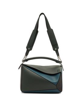 Blue Puzzle Messenger Bag by Loewe