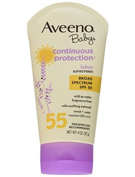 Aveeno Baby Sunscreen Lotion, Spf 55, 4 Ounce (Pack Of 2) by Aveeno Baby