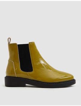 Cc Patent Chelsea Boot In Mustard by Intentionally Blank