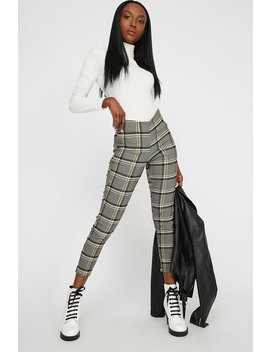 High Rise Pull On Plaid Woven Pant by Urban Planet