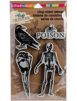 Stampendous Andy Skinner Jumbo Birds And Bones Stamp Set by Stampendous